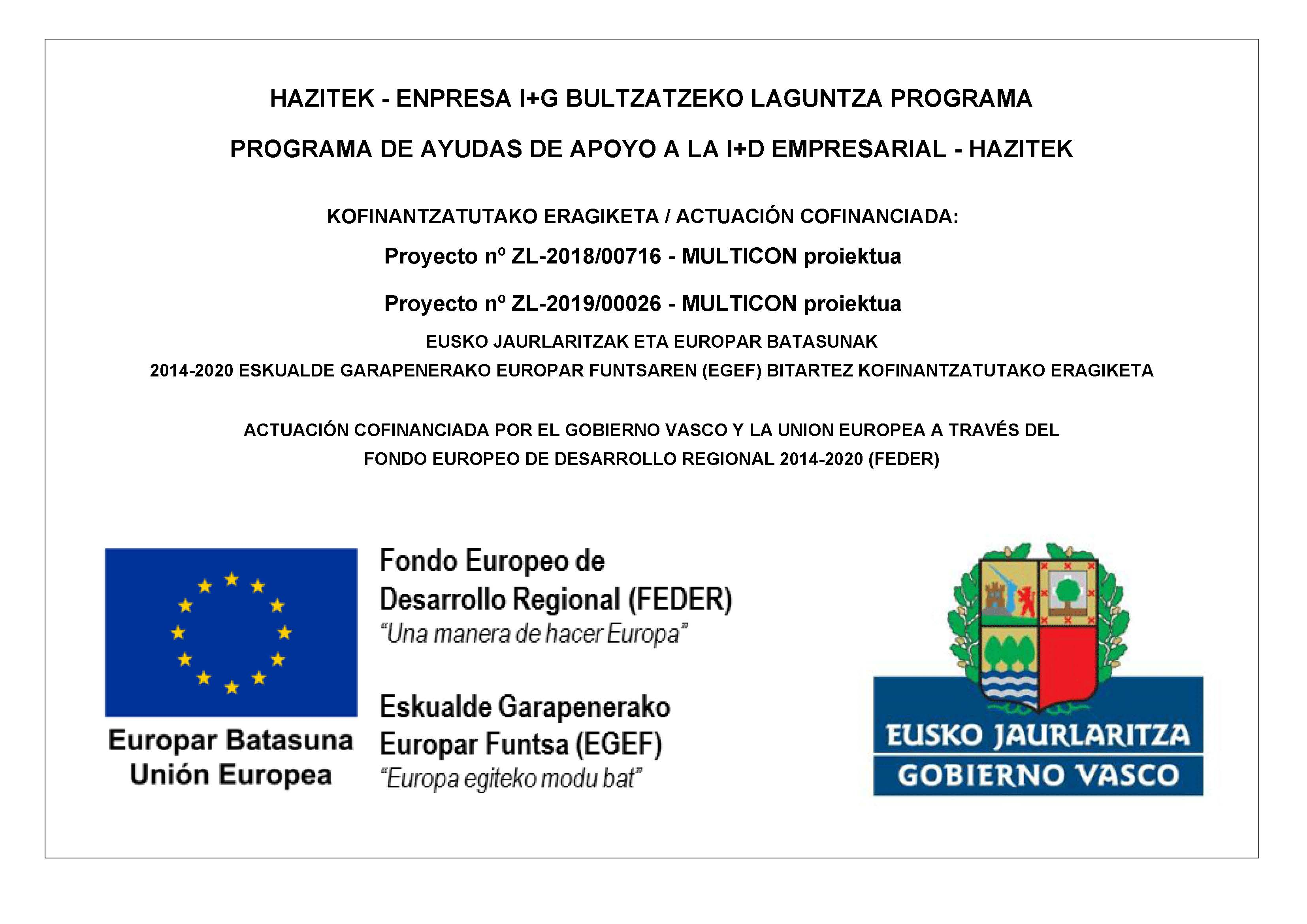 We Presented Ourselves To The Basque Government And The European Regional Development Fund